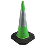 Green 1 Metre Two Piece Road Cone