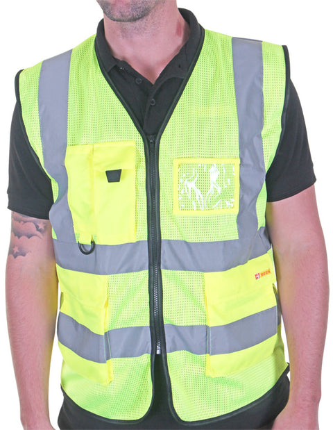 Premium Hi-Vis Vest with ID Pocket Yellow