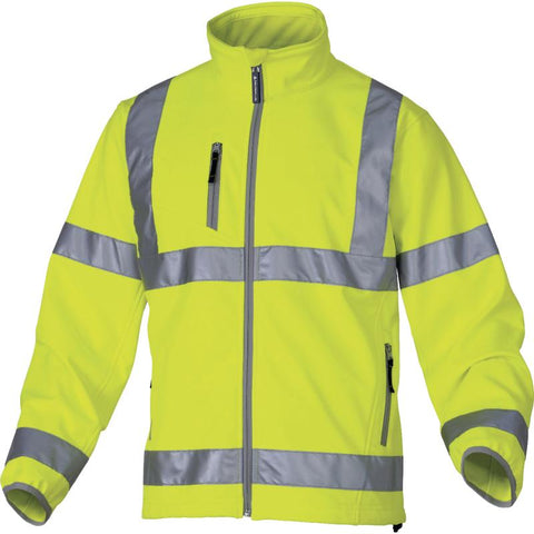 Delta Plus Moonlight Softshell High Vis Jacket With 3 Laminated Layers