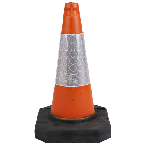 500mm 1-Piece Road Traffic Cone Street Solutions