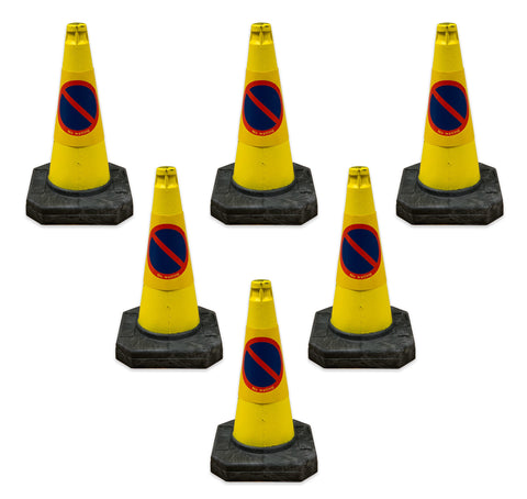 6 x 500mm No Waiting Road Cone