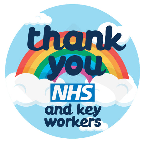 'Thank you NHS and key workers' - Multi-Purpose Sticker