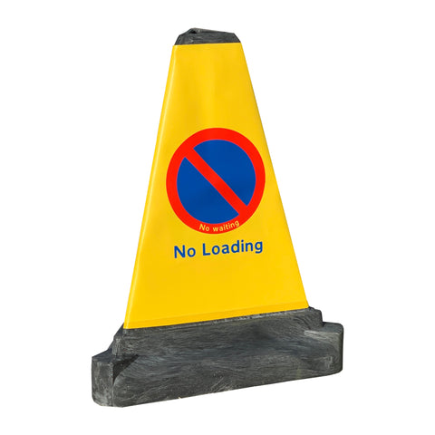 No Loading' Bollard Traffic Cone | 200mm 1-Piece PVC Road Traffic Cone