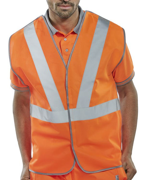 Rail Workers Hi-Vis Polyester Vest Orange
