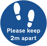 "Branded ""Please keep 2m apart"" Floor Sticker"