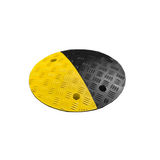 Circle Speed Bump 75mm half Yellow and half Black.