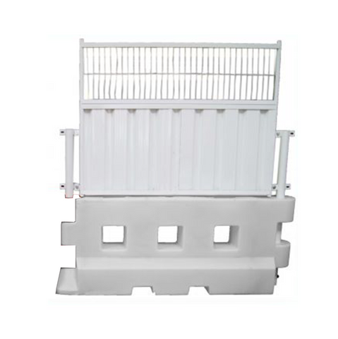 50 / 50 Fencing Panel for GB2 Safety Barrier in white.