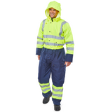 Beeseen Two Tone Hi-Vis Thermal Waterproof Coveralls