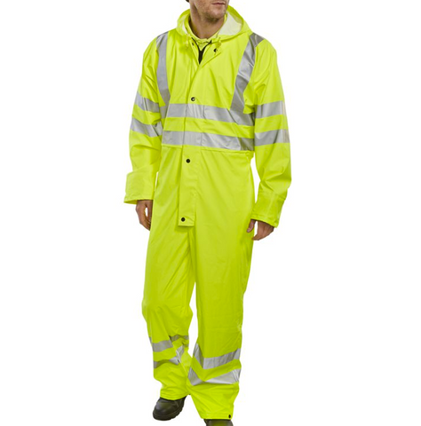 Beeseen Breathable Hi-Vis Yellow Overalls