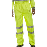Hi-Vis Workers Breathable Over Trousers - Yellow