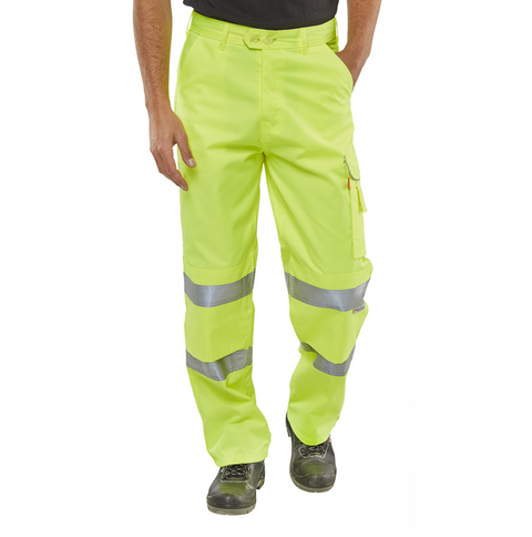 Beeseen Hi-Vis Everyday Worker Trousers - Yellow