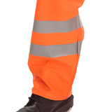 Hi-Vis Weatherproof Rail Workers Over Trousers - Orange
