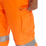 Beeseen Hi-Vis Everyday 'Rail Spec' Worker Trousers - Orange