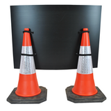 Traffic Control Ahead 1050 x 750mm Hangman Sign (Double Cone)