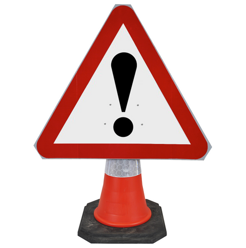 Warning Other Danger 750mm Triangle Hangman Sign (Single Cone)