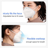 FFP2/N95 Disposable Respiratory Face Dust Masks - Box of 10