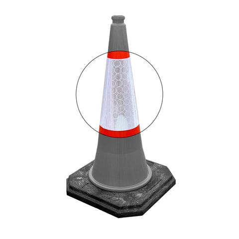 Replacement Traffic Cone Sleeves  Pack of 25 - 500mm, 750mm & 1000mm