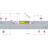 Traffic Management Signs & Cones Kit: Single Lane Closure
