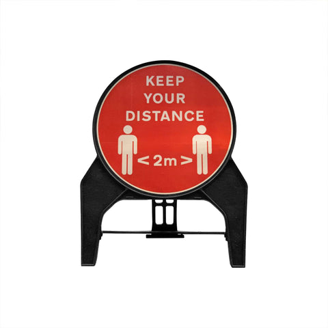 """Keep your distance 2m"" Circle Freestanding Sign"