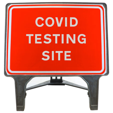 COVID TESTING SITE 1050 x 750mm Large Freestanding Sign