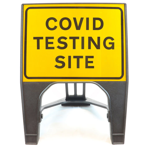 COVID TESTING SITE 600 x 450mm Small Freestanding Sign