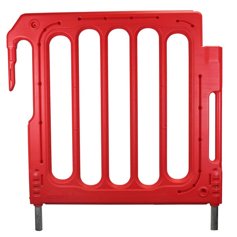DoubleTop Barrier Fencing Panel Extension in red front view
