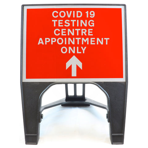 COVID-19 TESTING CENTRE APPOINTMENT ONLY Forward 600 x 450mm Small Freestanding Sign