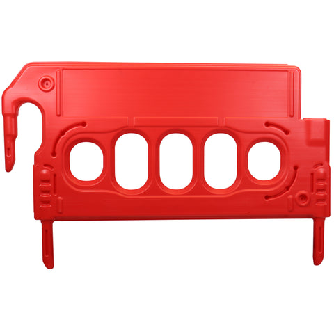 Mini DoubleTop Barrier Fencing in red.