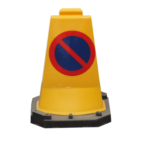 50cm Mini No Waiting Sign Traffic Cone Street Solutions