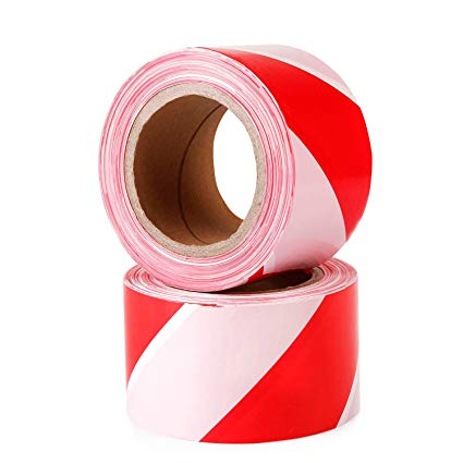Non Adhesive Barrier Tape - Red/White - 500m x 75mm