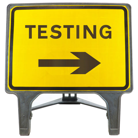 COVID-19 TESTING Right Arrow 1050 x 750mm Large Freestanding Sign