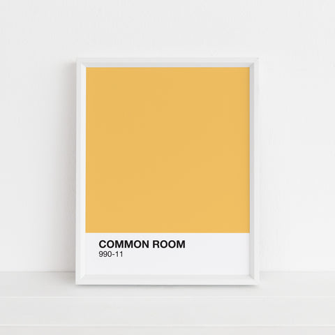 Yellow Common Room Print | Digital Download