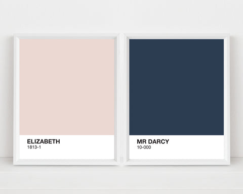 Elizabeth + Mr Darcy Prints | Digital Download