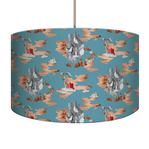 Teal Castle Lampshade/Pendant
