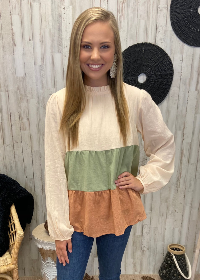 Campfire Cream Tiered Top-Shop-Womens-Boutique-Clothing