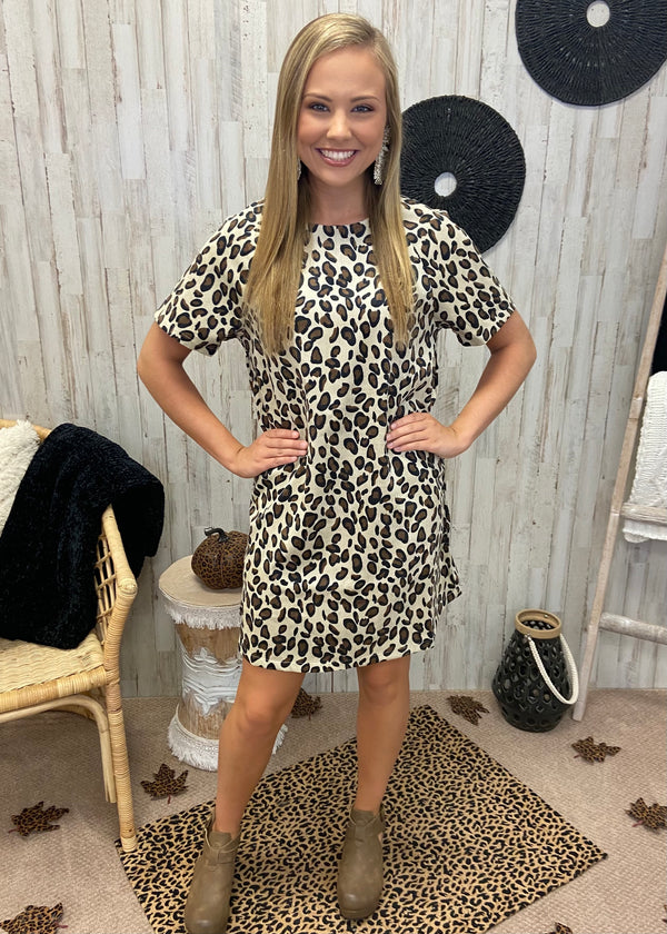 Kindness Counts Leopard Corduroy Dress-Shop-Womens-Boutique-Clothing