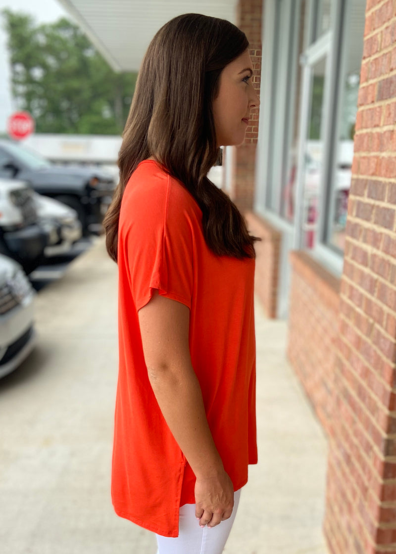 Anything But Basic Orange Top-Shop-Womens-Boutique-Clothing