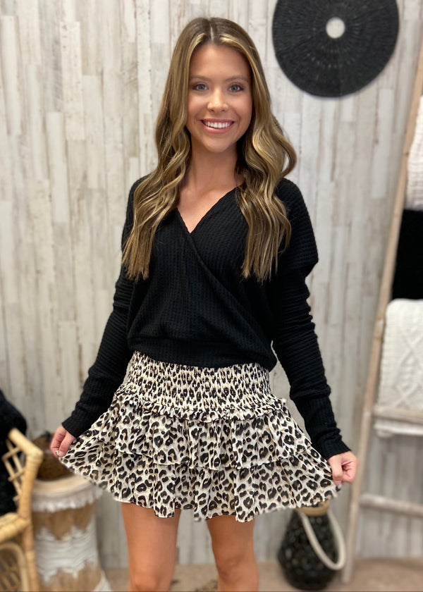 Be That Bold Taupe Leopard Skirt-Shop-Womens-Boutique-Clothing