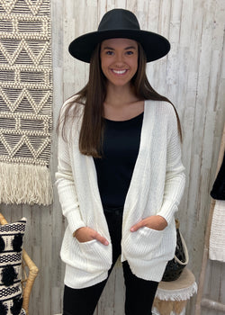 It's All Casual Cream Cardigan Sweater-Shop-Womens-Boutique-Clothing