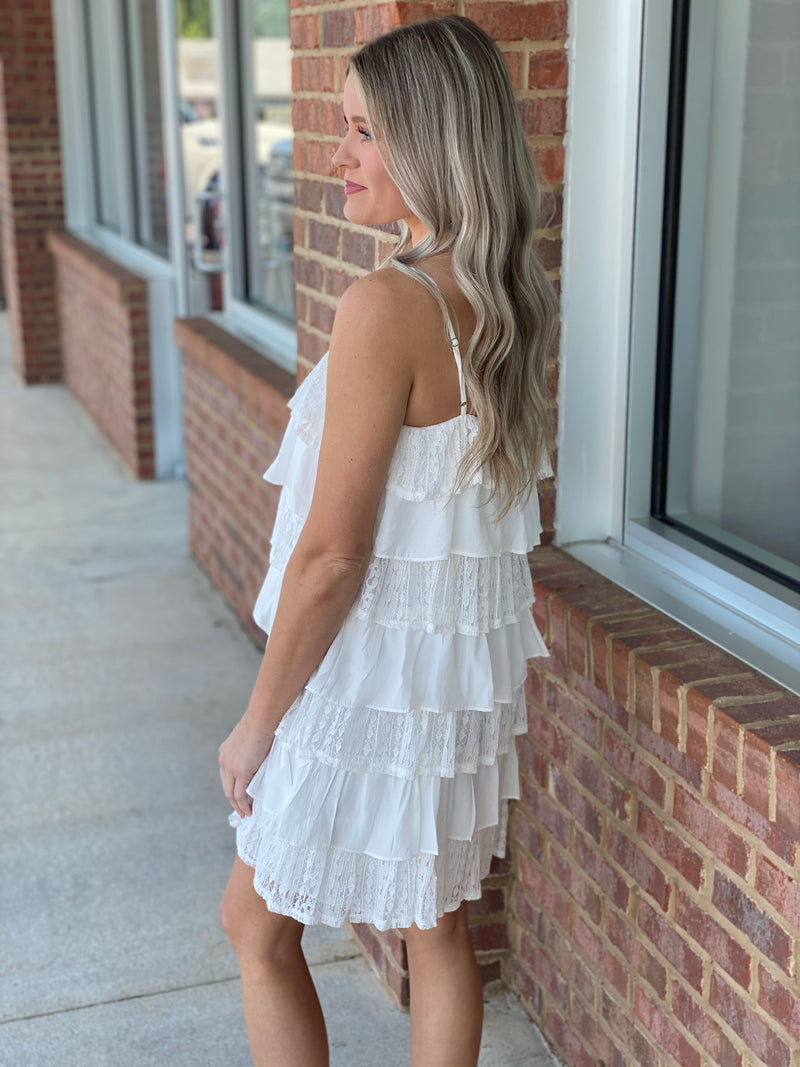 Feeling Like Spring Off White Dress-Shop-Womens-Boutique-Clothing