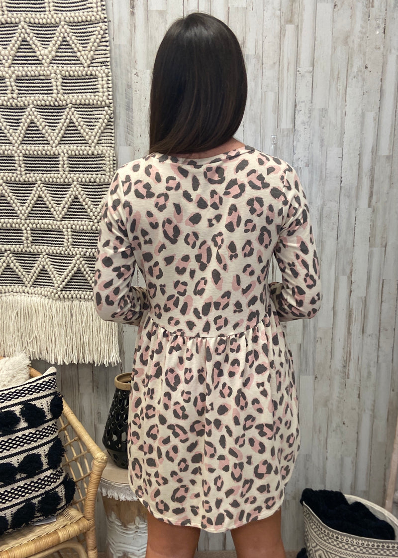 Greatest Memory Oatmeal Leopard Dress-Shop-Womens-Boutique-Clothing