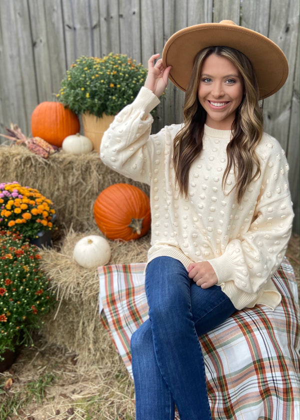 Pumpkin Patch Cozy Beige Sweater-Shop-Womens-Boutique-Clothing