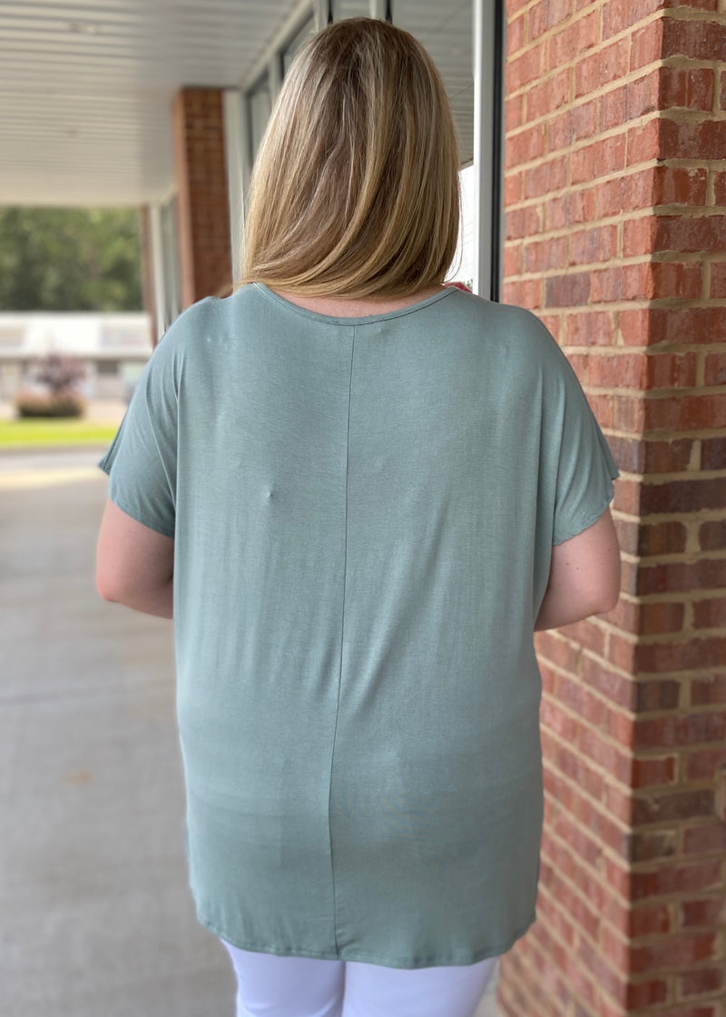 Anything But Basic Plus Size Sage Top-Shop-Womens-Boutique-Clothing