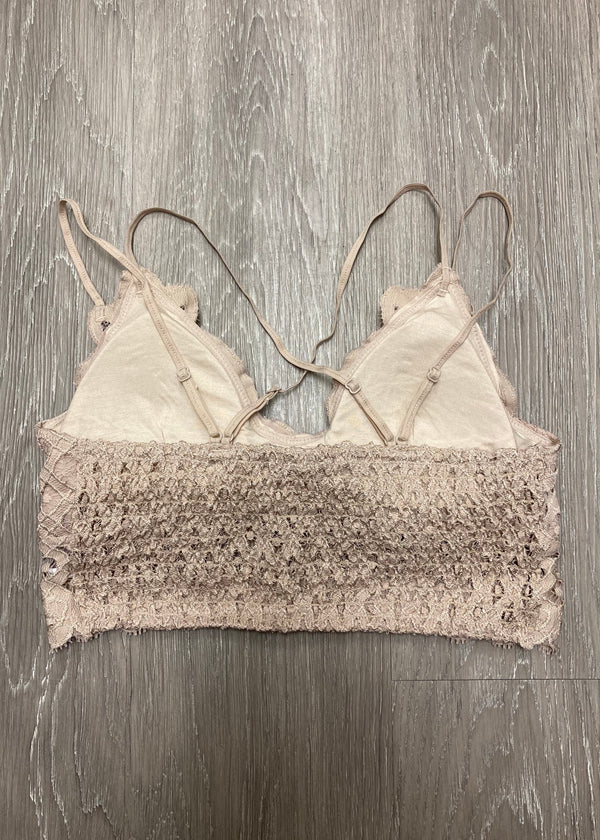 Signature Accessory Plus Size Taupe Bralette-Shop-Womens-Boutique-Clothing