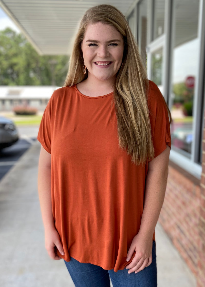 Anything But Basic Plus Size Rust Top-Shop-Womens-Boutique-Clothing