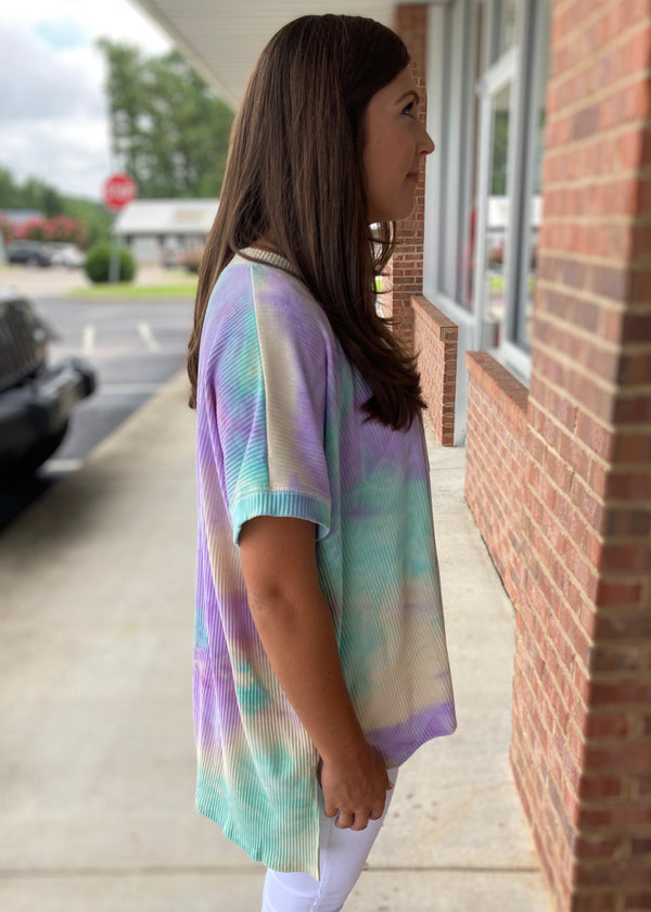 Do The Talking Mint Tie Dye Top-Shop-Womens-Boutique-Clothing