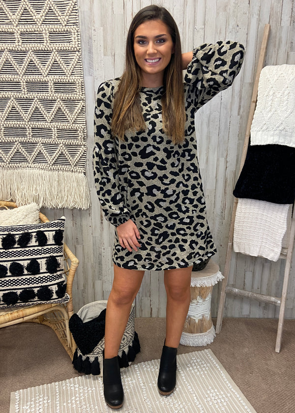 Wander Through Taupe Leopard Dress-Shop-Womens-Boutique-Clothing