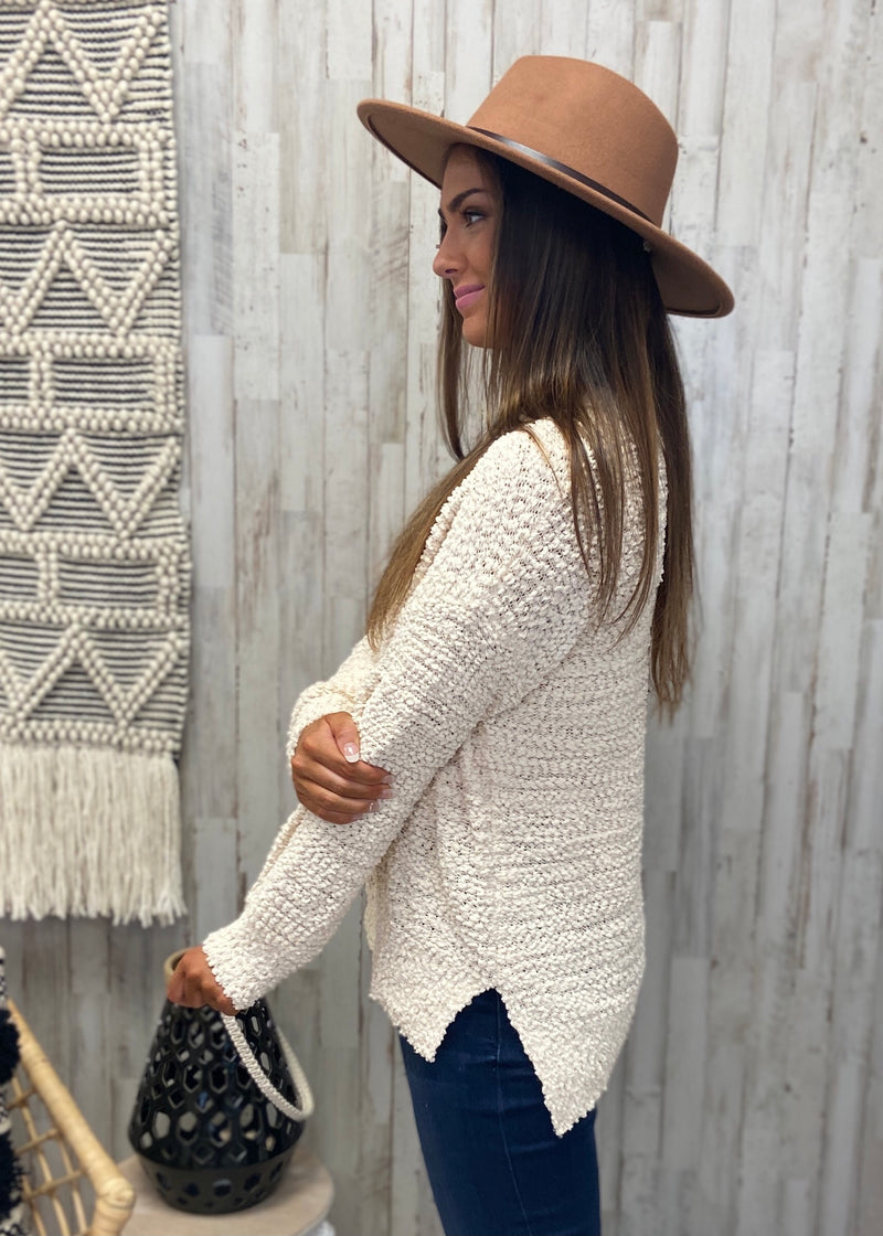 Use Your Heart Natural Popcorn Sweater-Shop-Womens-Boutique-Clothing