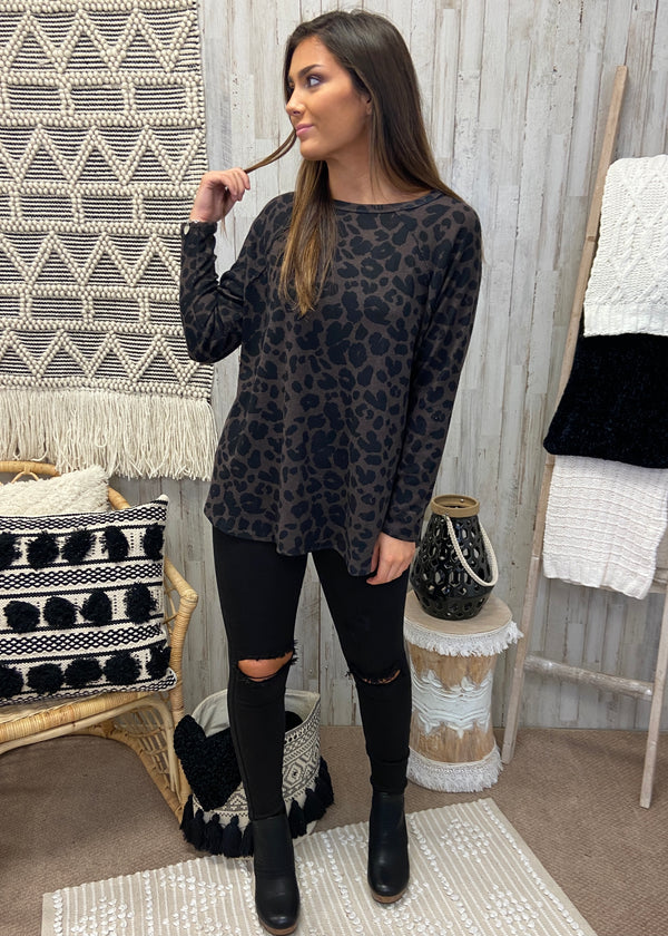 In Demand Dark Mocha Leopard Top-Shop-Womens-Boutique-Clothing