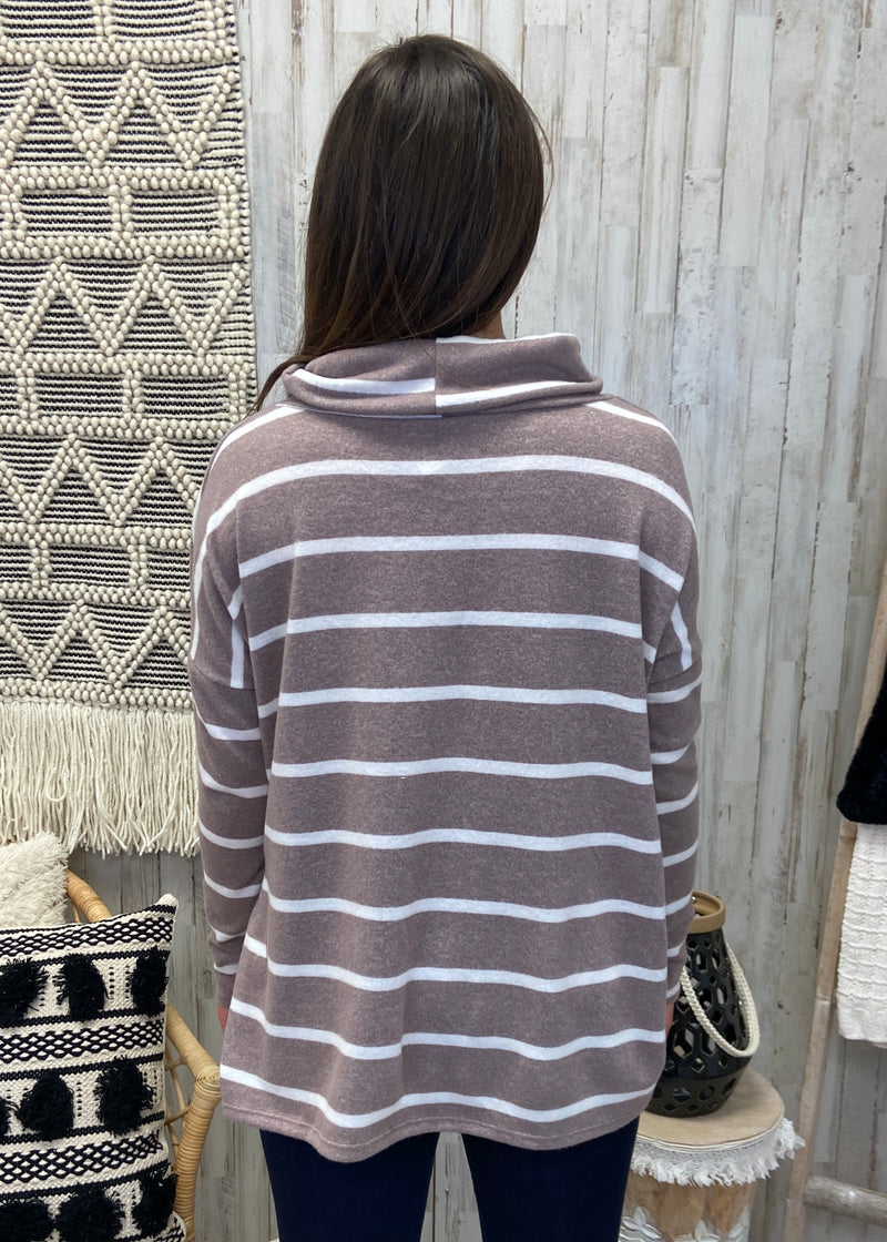 Mountain Roads Mocha Turtleneck Top-Shop-Womens-Boutique-Clothing